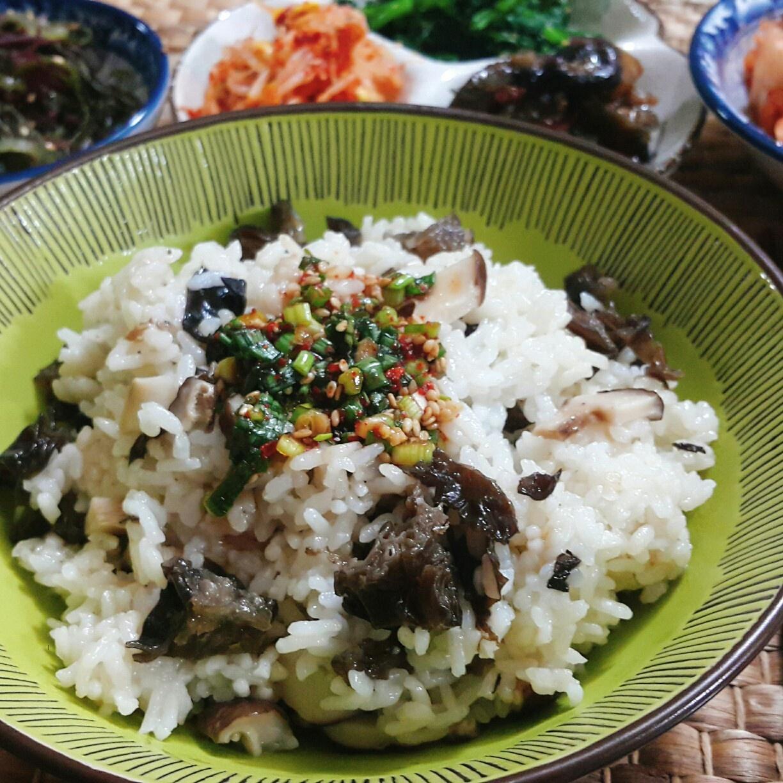 표고버섯밥