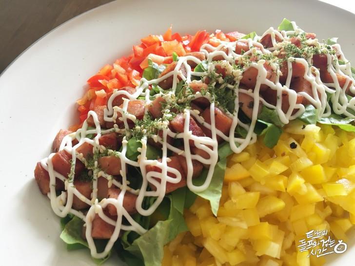 스팸마요 스팸마요덮밥 한솥도시락 마요 치킨마요 스팸마요 간단요리 초간단식사 브런치 아침식사 점심식사 도시락 샐러드